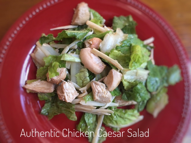 Authentic Chicken Caesar Salad