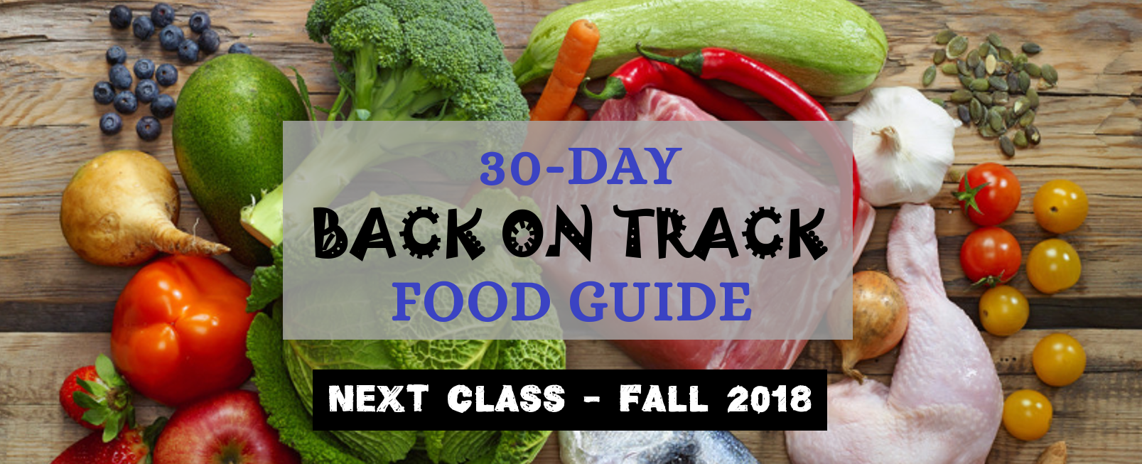Next 30-Day Food Guide & Class Coming Fall 2018