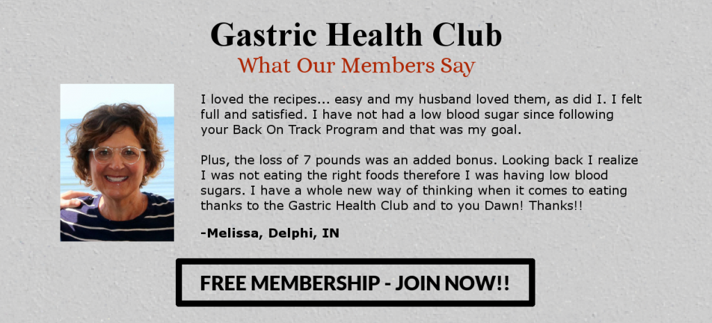 Gastric Health Club Membership Banner